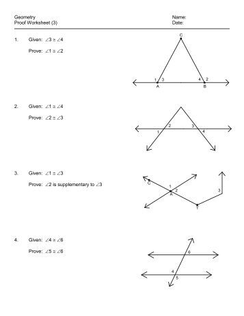 Geometry Name: Per: ______ Worksheet 2.2/2.3 – Intro Proofs ...