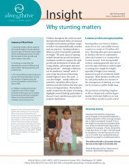 Why stunting matters - Alive & Thrive