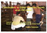 Contributions to Global Veterinary Society as an ... - OIE Asia-Pacific