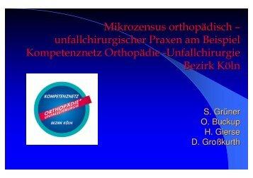 Mikrozensus orthopädisch – unfallchirurgischer Praxen am Beispiel ...