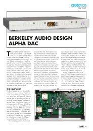 berkeley audio design alpha dac - Ultra High-End Audio and Home ...