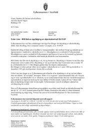 M/S Bohus oppfølging av skjenk - TVU-INFO