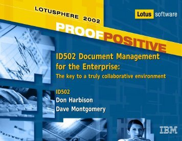 ID502 Document Management for the Enterprise: