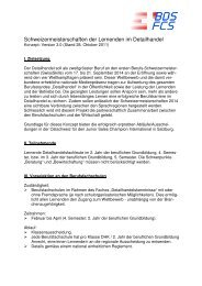 Konzept - Bildung Detailhandel Schweiz (BDS)