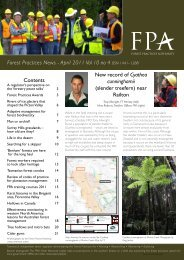 FPN vol 10 no 4 April 2011 - The Forest Practices Authority