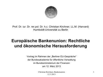 Europäische Bankenunion - Open Europe Berlin