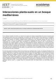 Interacciones planta-suelo en un bosque mediterráneo - Revista ...