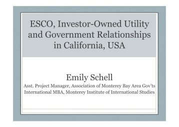 Ratemaking for Investor Owned Utilities ...