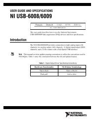 NI USB-6008/6009 User Guide and Specifications