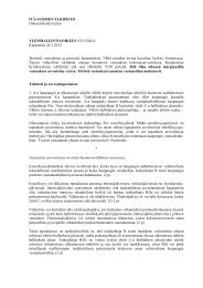 JOENSUUN YLIOPISTO - Itä-Suomen yliopisto