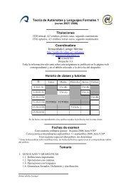 Teoría de Autómatas y Lenguajes Formales 1 Titulaciones ...