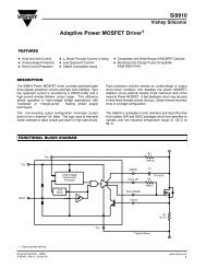 Si9910 Adaptive Power MOSFET Driver1