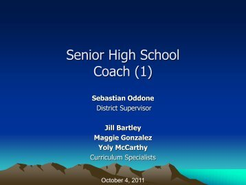 Coach - the Science Home Page
