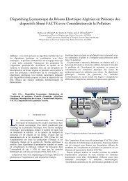 III-14 Dispatching Economique du Réseau Electrique Algérien avec ...