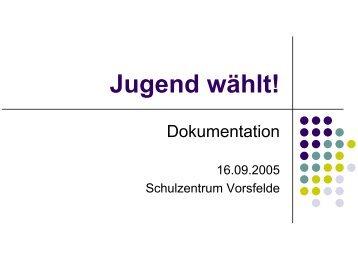 Jugend wählt! - STADTJUGENDRING WOLFSBURG EV