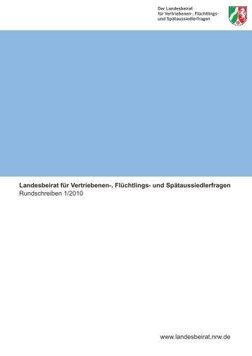 Rundschreiben 1/2010 - Landesbeirat für Vertriebenen-, Flüchtlings ...