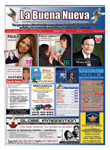 Marzo del 2012 - La Buena Nueva News Paper
