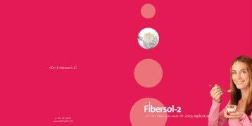 Fibersol Dairy Brochure - ADM