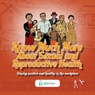 About Sexual and Reproductive Health About Sexual and ... - SAfAIDS