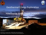 Geothermal Energy Exploration at Hawthorne Army ... - Clearinghouse