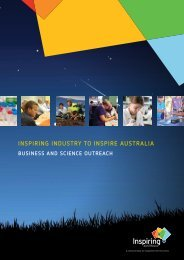 InspIrIng Industry to InspIre AustrAlIA - Department of Innovation ...