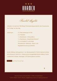 Pauschal Angebote - Hotel Kramer