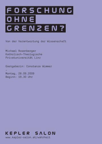 Heft_Rosenberger_20090928.pdf - Kepler Salon