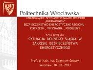 Sytuacja Dolnego Śląska w zakresie bezpieczeństwa energetycznego