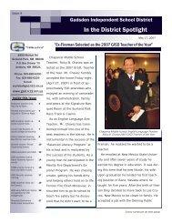GISD Spotlight Issue 4 - Gadsden Independent School District