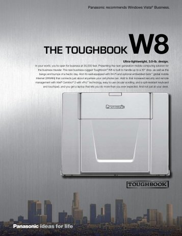 THE TOUGHBOOKW8 - Custom Laptops