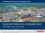 Dominic Lang, Sustaining Excellence into a Challenging Future - EOQ