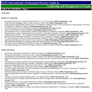 Table of Contents - AACE International