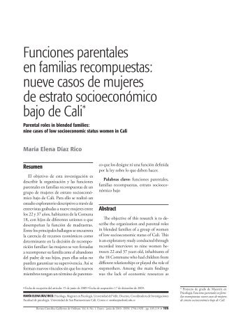 Funciones parentales en familias recompuestas - Universidad de ...