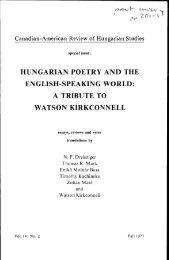 The Canadian-American Review of Hungarian Studies - Vol. 4 ... - EPA