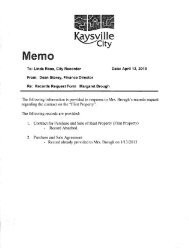 Records Request Form Margaret Brough - Kaysville City