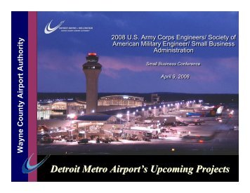 Upcoming Opportunities Wayne County Airport Authority