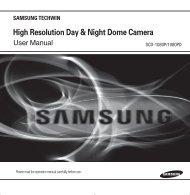 High Resolution Day & Night Dome Camera - Samsung CCTV