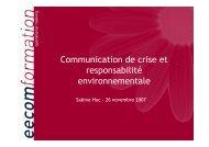 Communication de crise et responsabilité environnementale