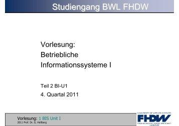 BIS 4.Quartal 2011 Folien Teil II