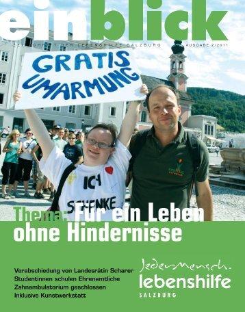 Thema: Für ein Leben ohne Hindernisse - Lebenshilfe Salzburg