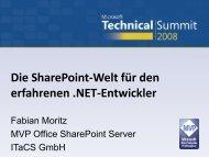 Fabian Moritz - Erweiterte Einführung in die ... - ITaCS Blogs