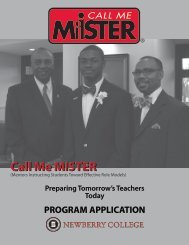 Call Me MISTER - Newberry College