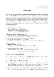 Usnesení o nařízení dražebního jednání - e-aukce