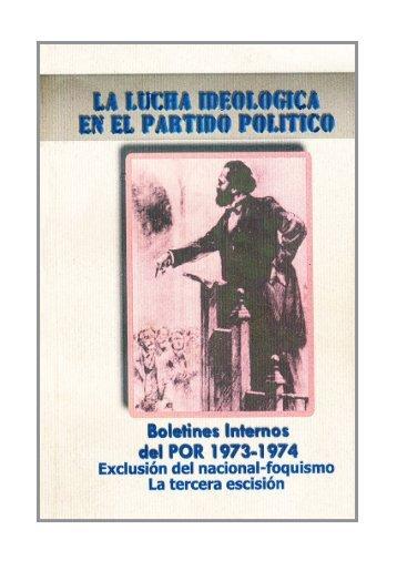 discusión interna - Partido Obrero Revolucionario