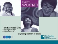 Toni Eastwood OBE, Training Director, Everywoman Limited ...