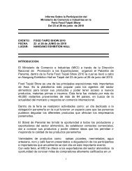 Informe Sobre la Participación del Ministerio de Comercio e ...