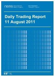 Daily Trading Report 11 August 2011 - EMC - Energy Market ...