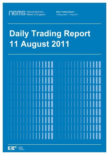 Daily Trading Report 11 August 2011 - EMC - Energy Market ...