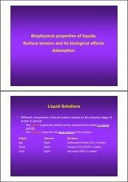 Liquids in Solution