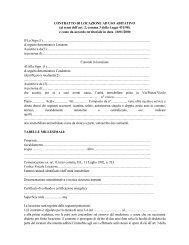 Contratto di Locazione ad Uso Abitativo - Comune di Verbania